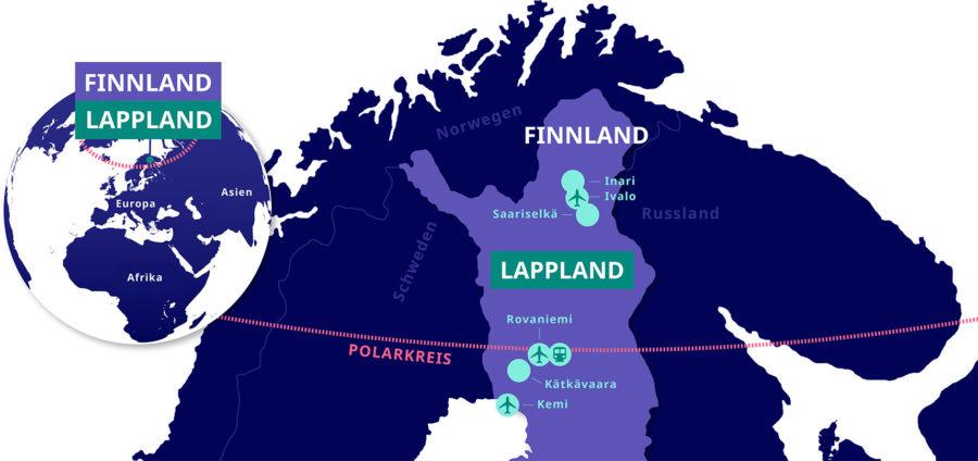 Lappland Karte.Einfache Anreise Nach Finnland Und Lappland Lapland Welcome In