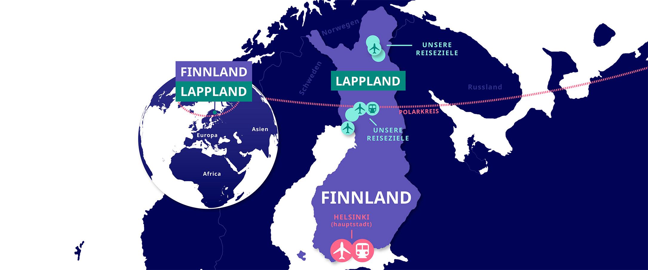 Lappland Karte.Lapland Welcome Safaris Und Aktivitäten In Lappland Finnland Rovaniemi