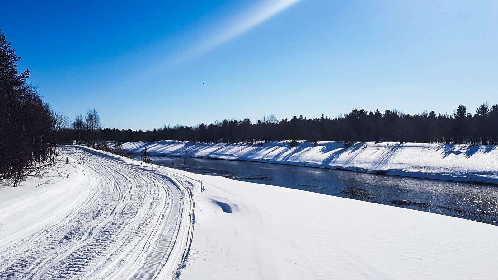 river in snowy landscape