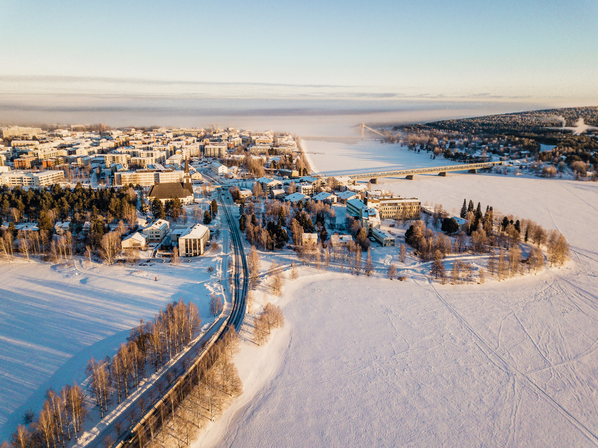 Rovaniemi City from air