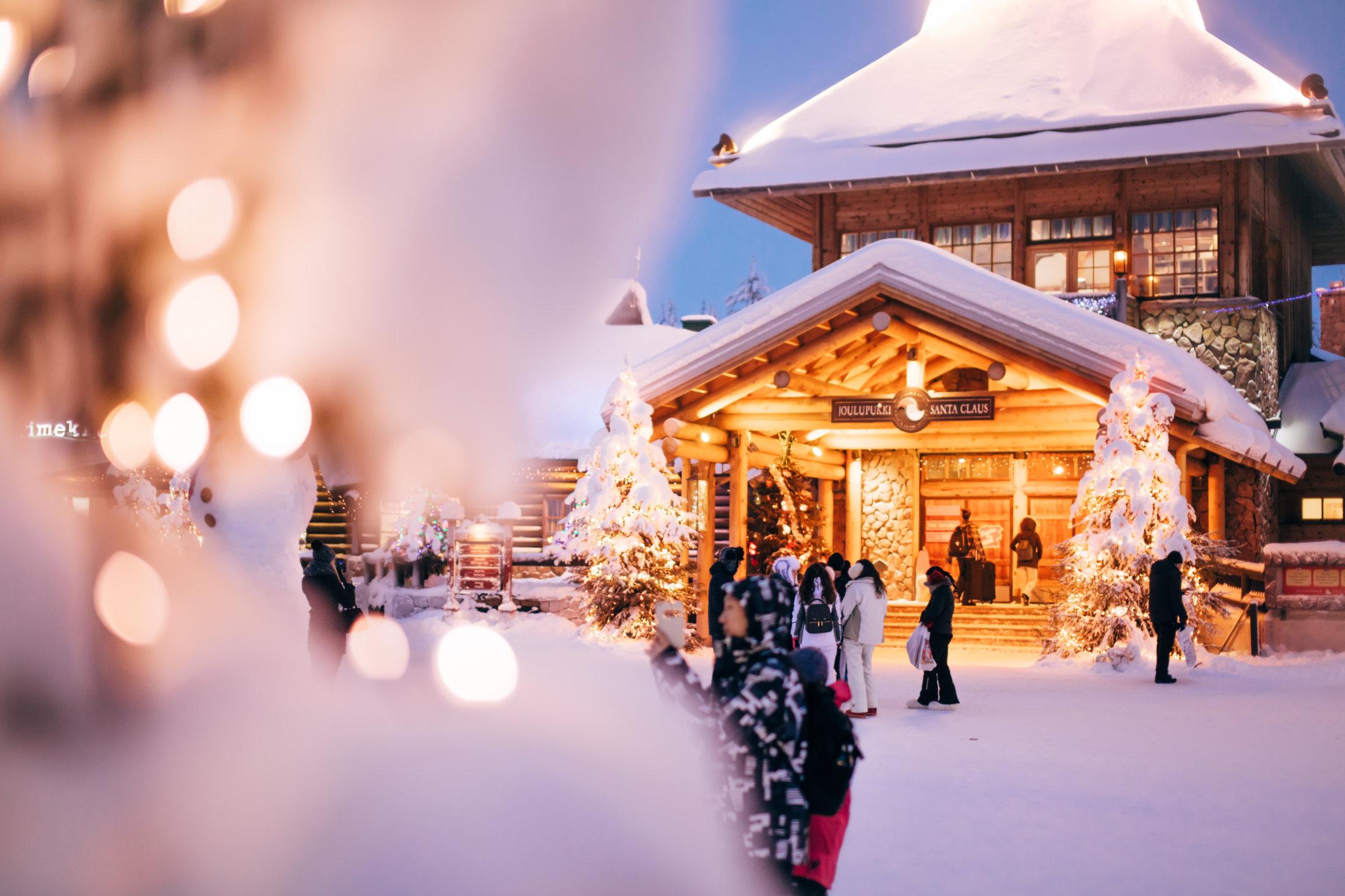 Santa Claus Village with harmonious lights