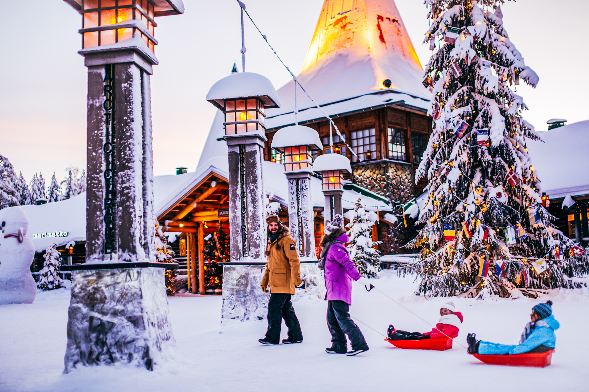 Family in Santa Claus Village