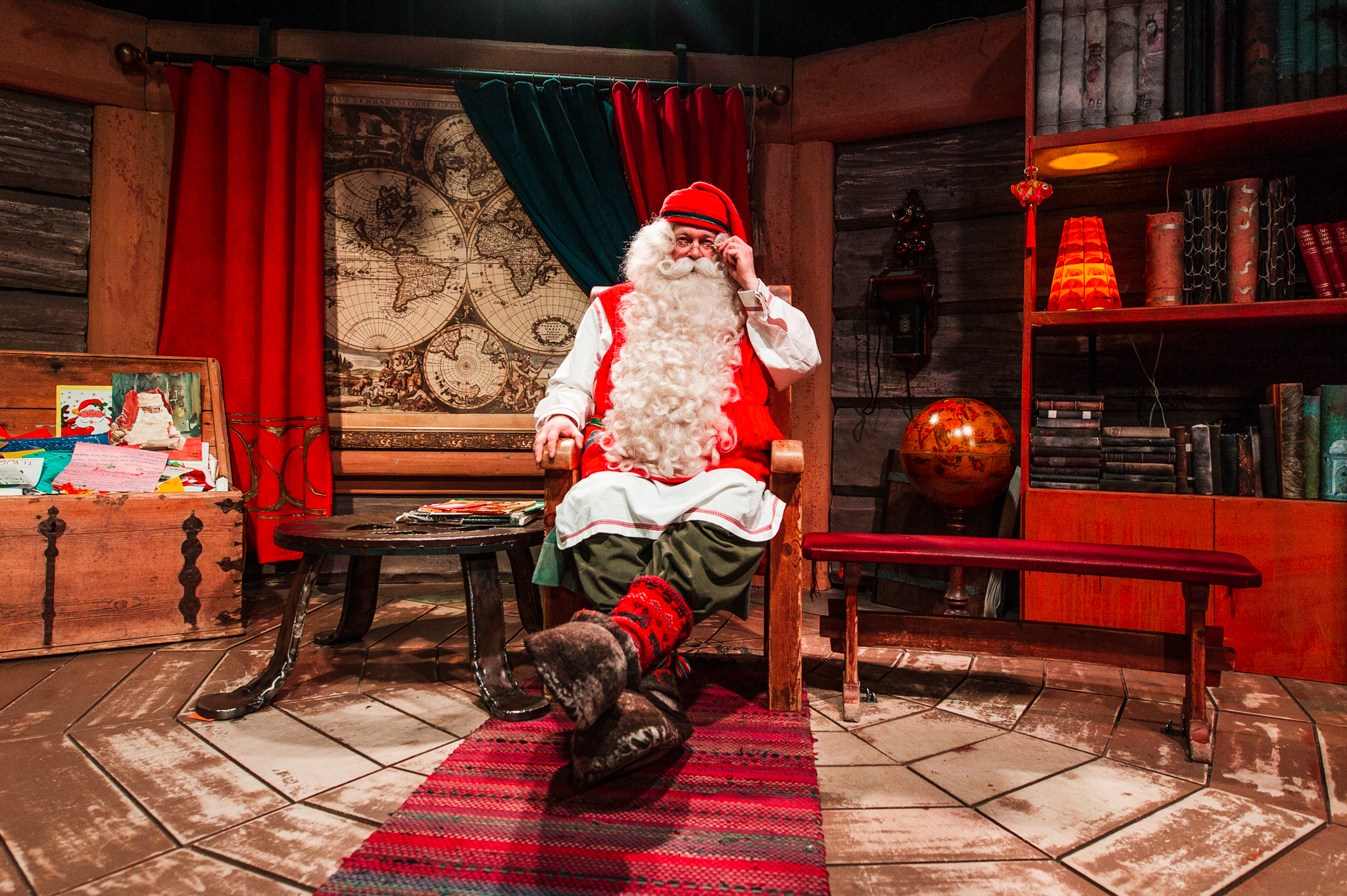 Santa Claus in his Office